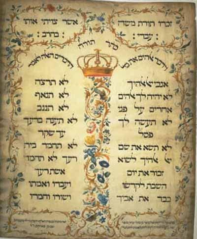 commandments crystalinks