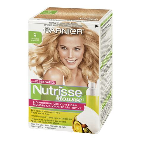 color foam garnier nutrisse nourishing color foam permanent hair