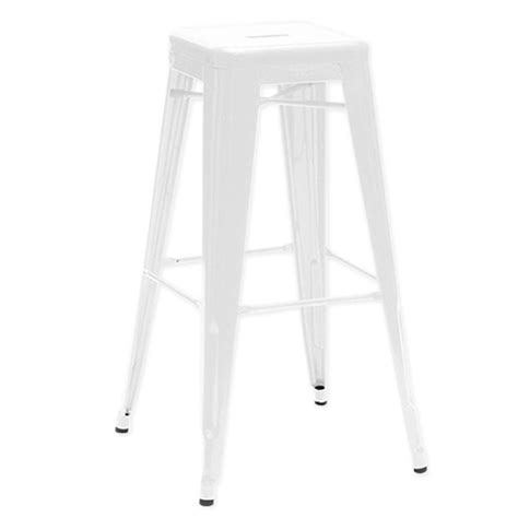 Tabouret Cing by Deco In Tabouret De Bar En Metal Blanc Laque King