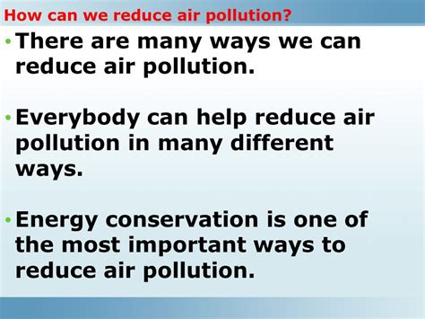Ways To Avoid Air Quality Air Is An Important Resource Ppt