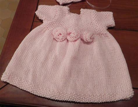 baby dress knitting rosette baby dress knitting pattern pdf