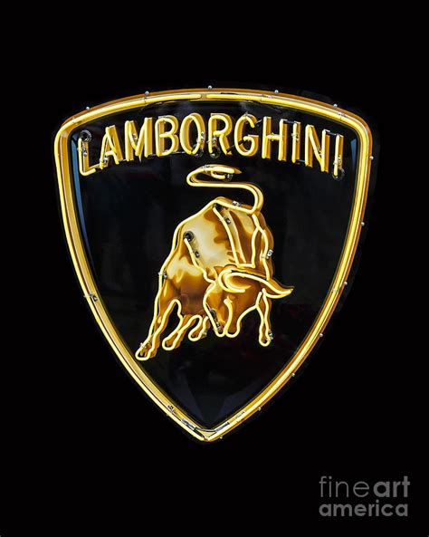 Lamborghini Neon Sign Lamborghini Neon Sign Photograph By Dennis Hedberg