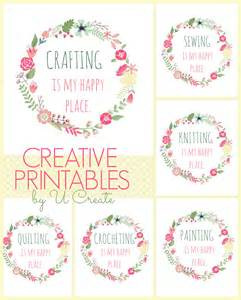 Happy place printables for the crafter by u createcrafts com