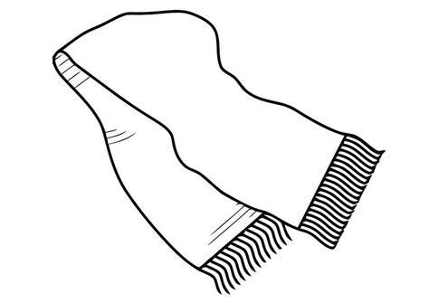 coloring page winter scarf kleurplaat sjaal afb 19444
