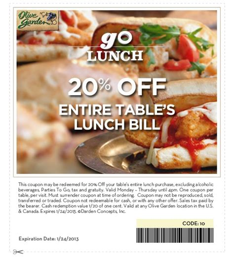 Current Olive Garden Specials by Lunch Coupons For Olive Garden 2017 2018 Best Cars Reviews