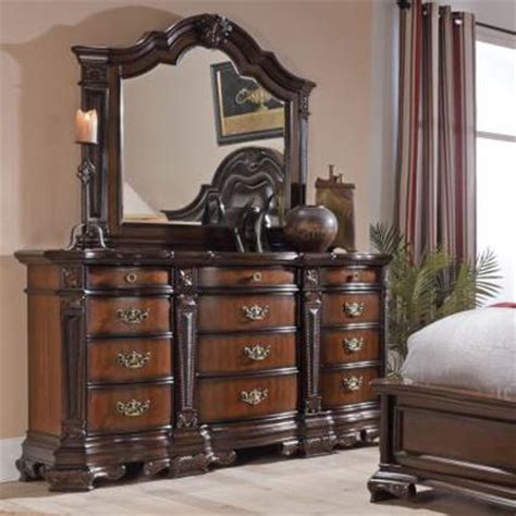 ornate bedroom furniture lifestyle jade ornate traditional twelve drawer dresser and mirror set royal