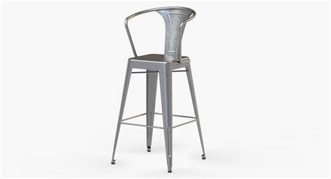 75 off bamboo and metal bar stools chairs 3d model vintage metal bar stool