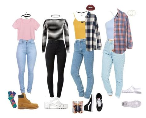 90s School Outfits by stellaluna899 on Polyvore featuring