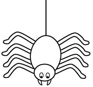 spider template spider outline coloring home