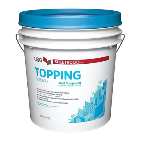 sheetrock topping 4 5 gal pre mixed joint compound