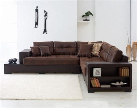Modern Microfiber Sectional Sofas Brown Beige Or Camel Microfiber Modern Sectional Sofa