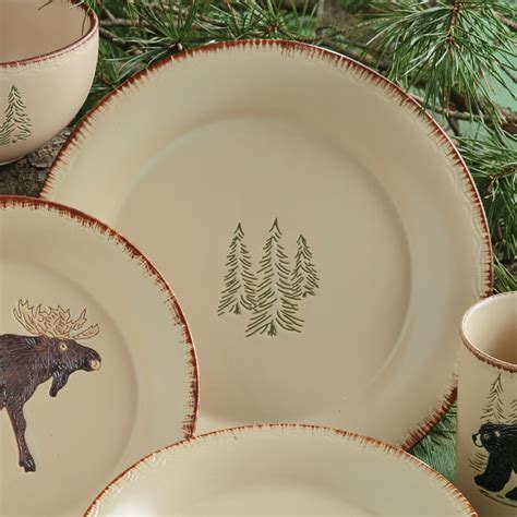 Bear & Moose Stoneware Dinner Plate