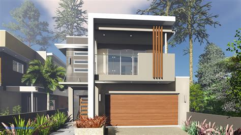 Narrow Lot 2 Story House Plans by Two Story House Plans On Narrow Lot House Plan