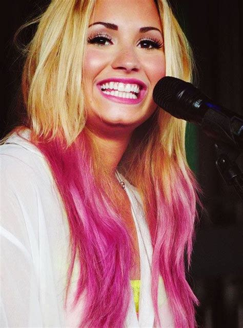 demi lovato inspired pink purple dip dye ombre hair pinterest the world s catalog of ideas