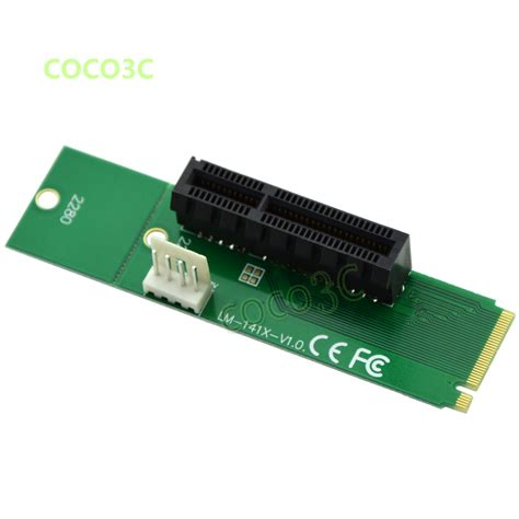 M2 Pcie Pci E To Ngff M 2 M Key Kabel Konverter Molex 4x free shipping ngff to pci e 4x slot riser card m key m 2 ssd port to pci express adapter