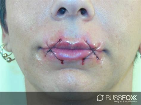tattoo sewn lips 143 best tatoos body modifications images on pinterest