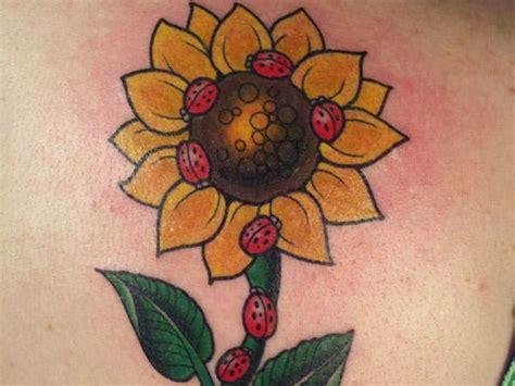 cute ladybug tattoo designs stunning sunflower tattoos symbolize happiness 171