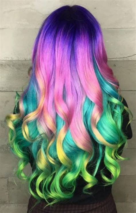 Cool Rainbow Hairstyle Ideas For Young Girls   HairzStyle