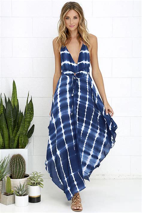 women over 59 sundresses cute blue tie dye dress halter dress beach dress 59 00