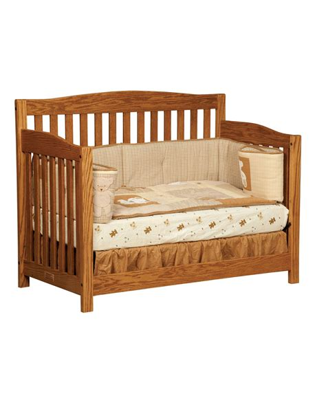 Convert Crib To Daybed Monterey Conversion Crib Amish Direct Furniture