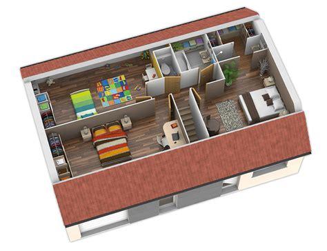 Maison à énergie Positive 364 by Plan Maison Ossature Bois Nativio Ardoise Natilia