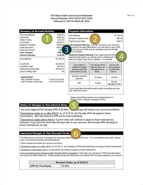 credit card billing statement template 11 billing statement sles pdf
