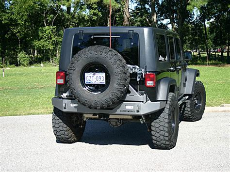 jeep rear bumper with tire carrier shrockworks modular jeep jk tire carrier tire rack jerry