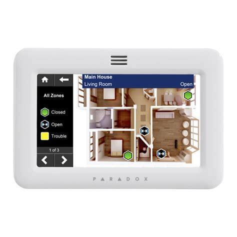 paradox tm50 5 quot touchscreen alarm keypad home security