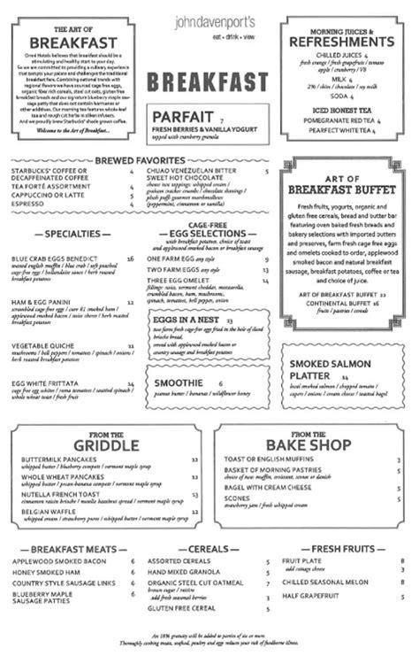 Printable Restaurant Menus