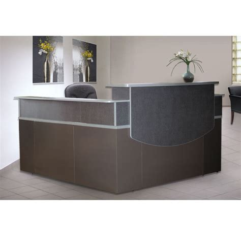 Ebay Reception Desk Ebay Reception Desk Mocha Finish Reception Desk With Textured Glass Ebay Used Reception Desk