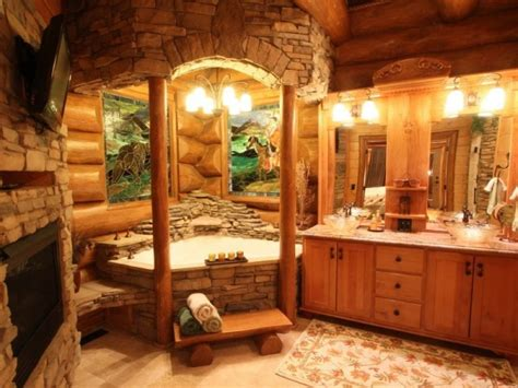 Log Home Bathroom Ideas by Magnificent Custom Log Home Home Design Garden