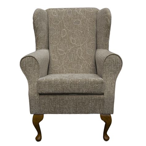 small fabric armchair wing back fireside armchair small westoe orthopaedic in a