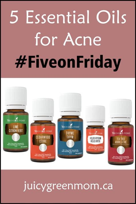 Treating Acne With Essential Oils by 5 Essential Oils For Acne Fiveonfriday Green