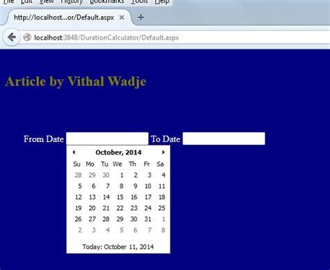Date Duration Calendar Calendar Date Between Two Dates Calendar Template 2016