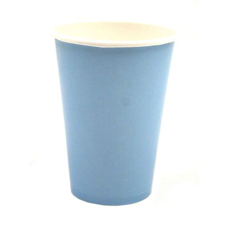 Paper Cups - baby blue 12 ounce paper cups