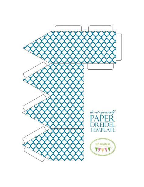 Better Homes And Gardens Craft - paper dreidel pattern hanukka pinterest