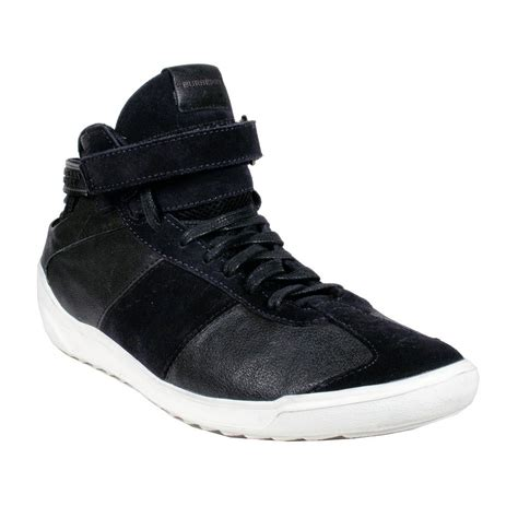 burberry mens sneakers burberry mens shoes black high top leather sneakers