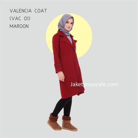 Grosir Murah Viny Outer grosir outer muslimah murah valencia coat maroon vac 01