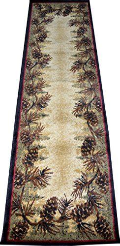 dean mt le conte pine cone lodge cabin carpet runner rug