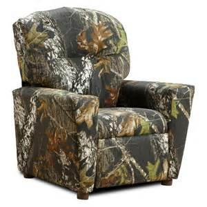 Youth Camo Recliner Kidz World Mossy Oak Camouflage Kid S Recliner At Hayneedle