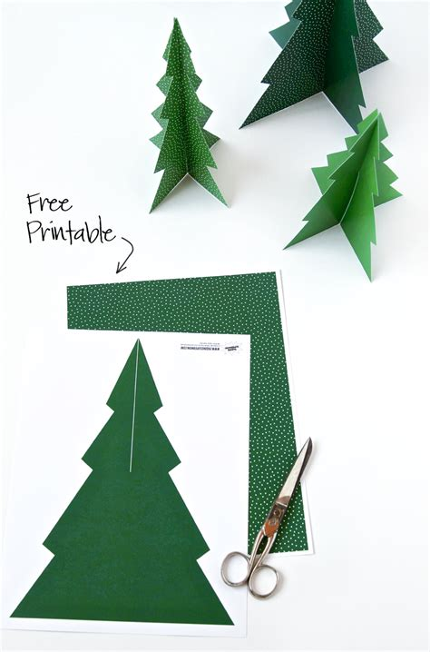 printable paper christmas tree free printable 3d pine tree forrest free printables and