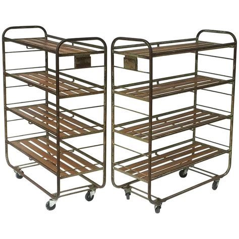 industrial rolling racks french industrial rolling racks of steel and wood two