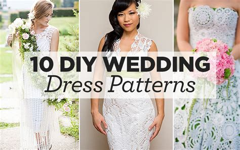 diy wedding dress patterns 10 diy wedding dress patterns top crochet patterns