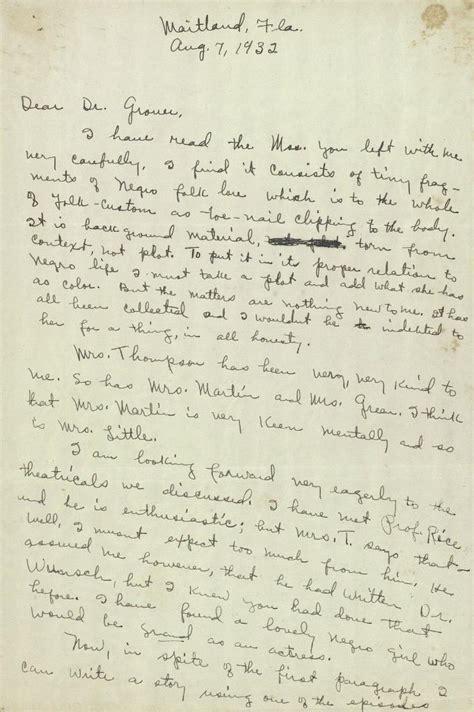Zora Neale Hurston Essay by Zora Neale Hurston Papers