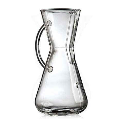 bed bath and beyond chemex buy chemex 174 glass handle 3 cup coffee maker from bed bath