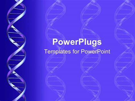 powerplugs templates for powerpoint download powerpoint template a dna structure with bluish