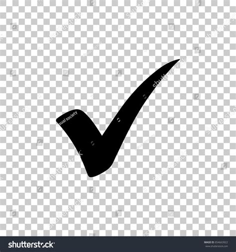 Check With Transparent Background Check Isolated On Transparent Background Stock Vector 654663922