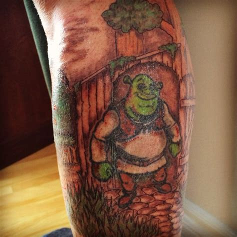 shrek tattoo shrek by ranz tattoos