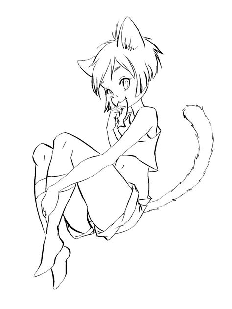 Anime Neko Coloring Pages Coloring Pages Anime Neko Coloring Pages Printable