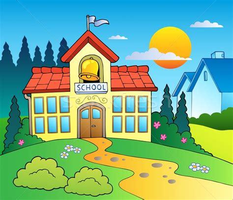 imagenes animadas de una escuela theme with big school building vector illustration 169 klara